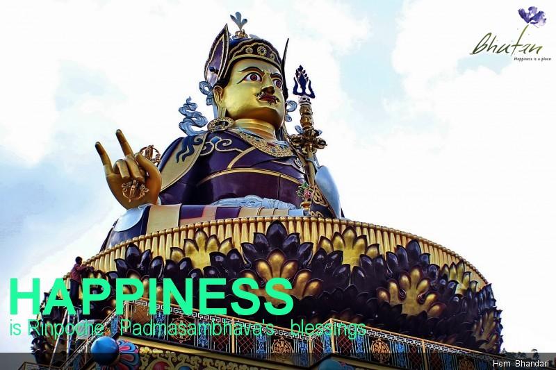Happiness is Rinpoche   Padmasambhava's   blessings