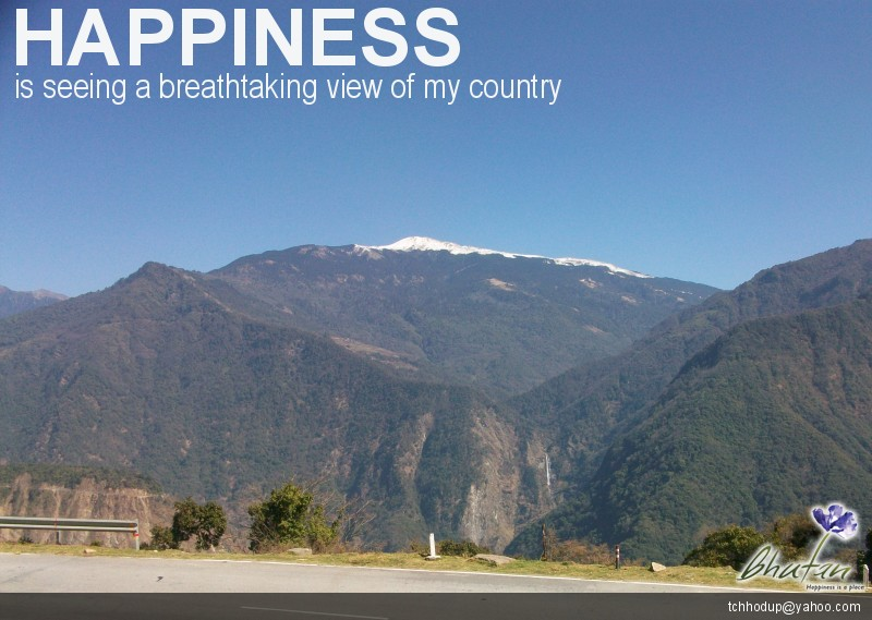Happiness is seeing a breathtaking view of my country
