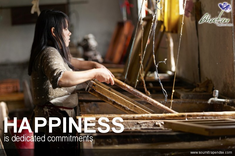 Happiness is dedicated commitments