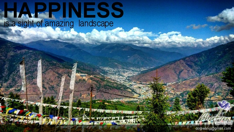 Happiness is a sight of amazing  landscape