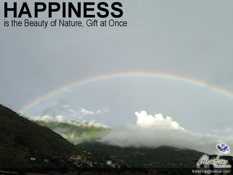 Happiness is the Beauty of Nature, Gift at Once