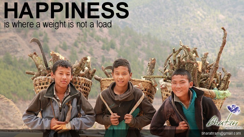 Happiness is where a weight is not a load