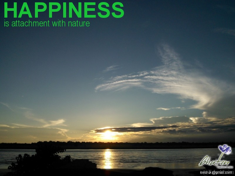 Happiness is attachment with nature