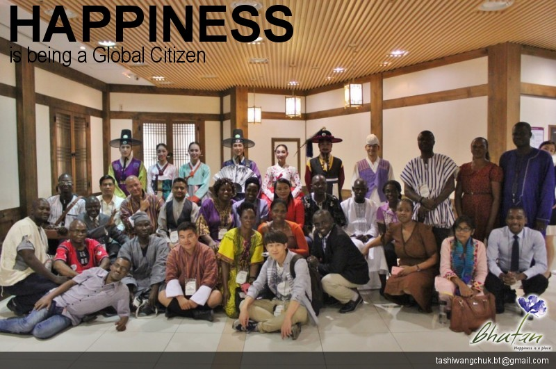 Happiness is being a Global Citizen