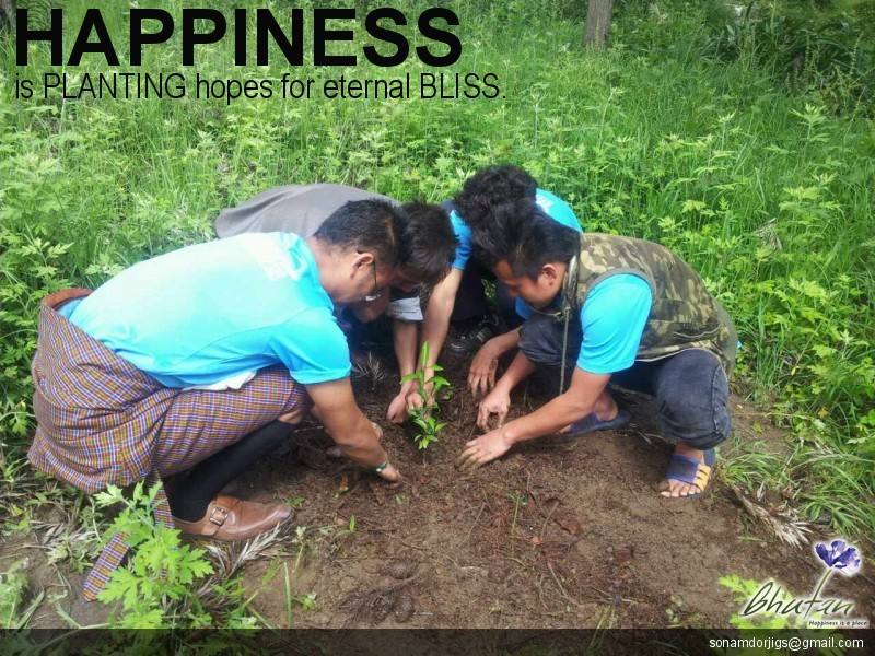 Happiness is PLANTING hopes for eternal BLISS.