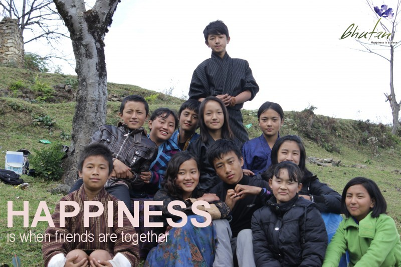 Happiness is when friends are together