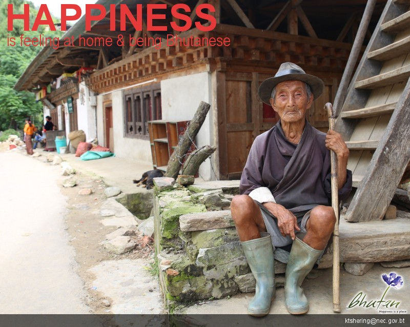 Happiness is feeling at home & being Bhutanese