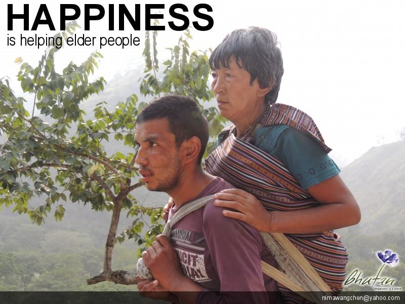 Happiness is helping elder people