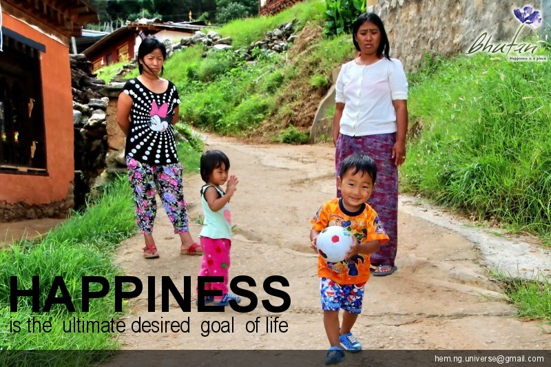 Happiness is the  ultimate desired  goal  of life