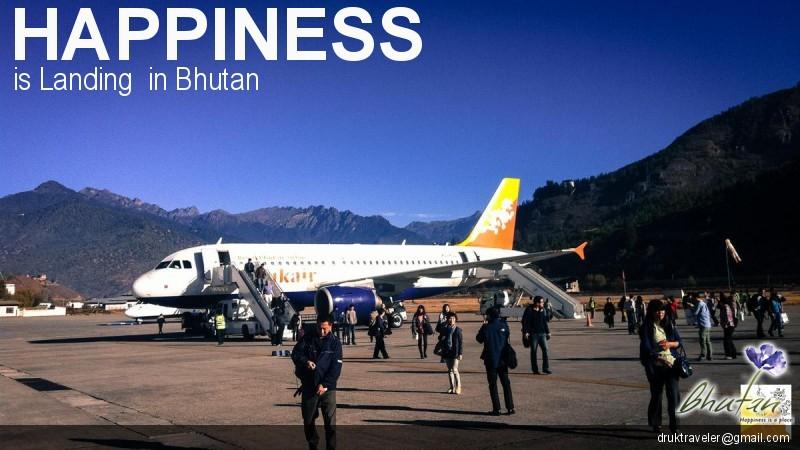 Happiness is Landing  in Bhutan