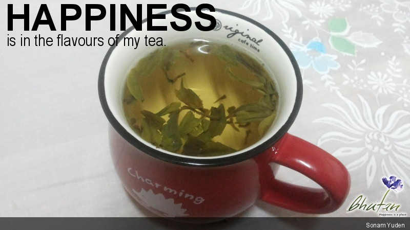 Happiness is in the flavours of my tea.