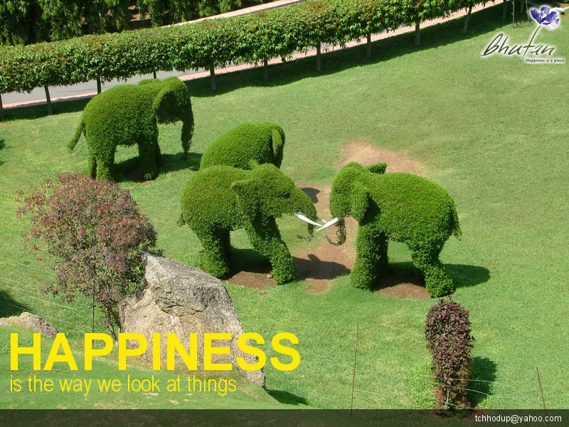 Happiness is the way we look at things