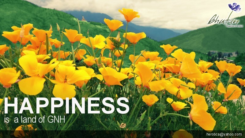 Happiness is  a land of GNH
