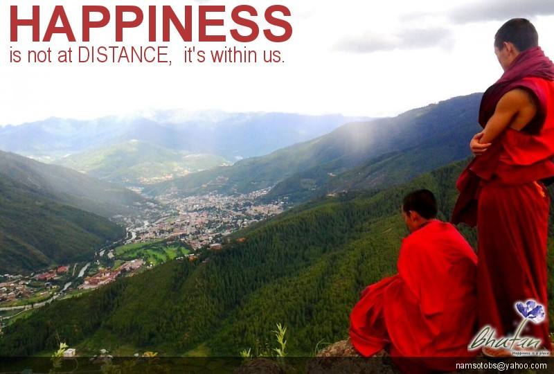 Happiness is not at DISTANCE,  it's within us.