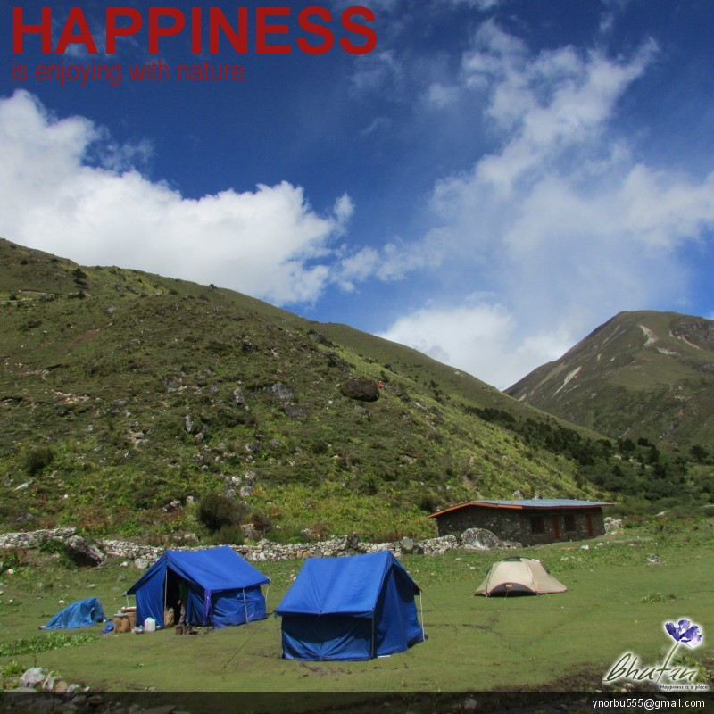Happiness is enjoying with nature.