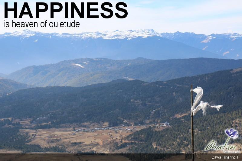 Happiness is heaven of quietude
