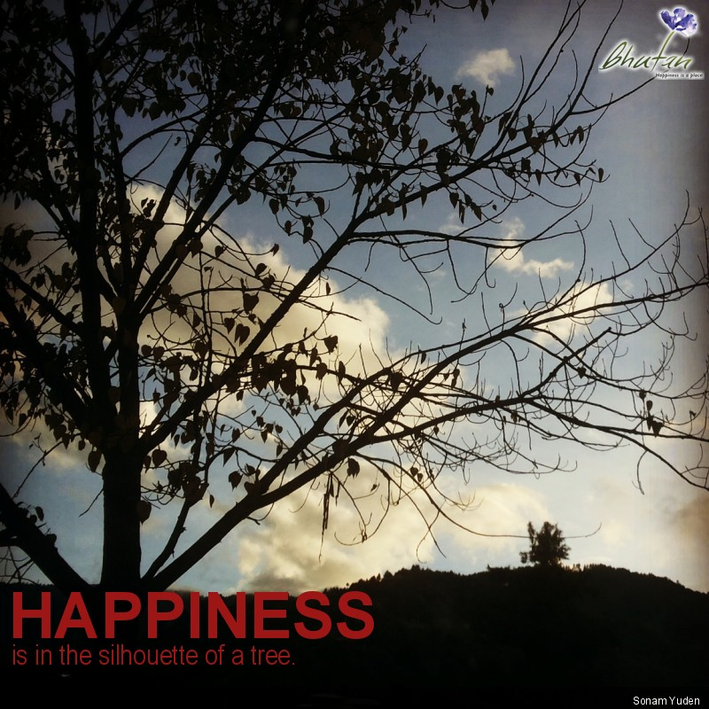 Happiness is in the silhouette of a tree.