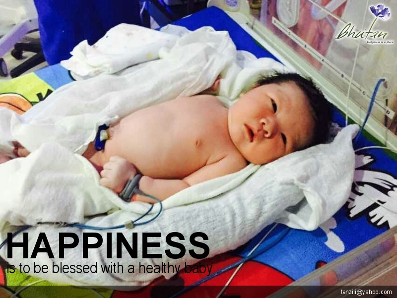 Happiness is to be blessed with a healthy baby