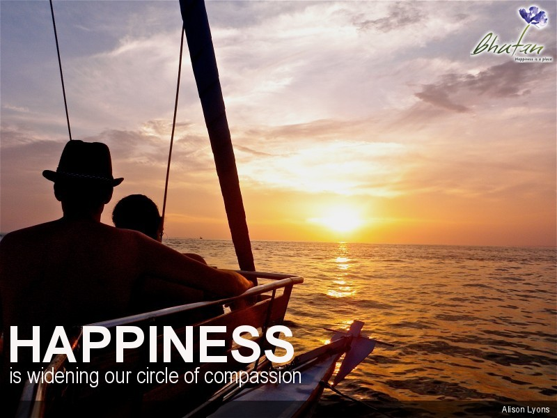 Happiness is widening our circle of compassion