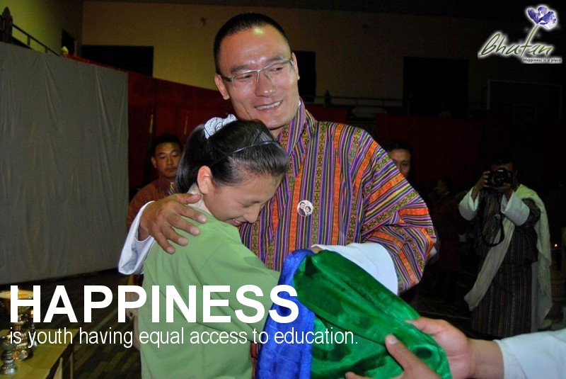 Happiness is youth having equal access to education.