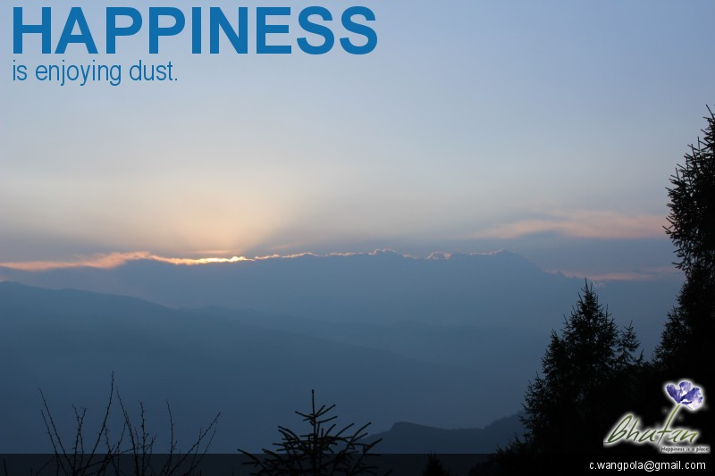 Happiness is enjoying dust.