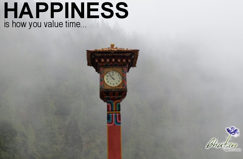 Happiness is how you value time...