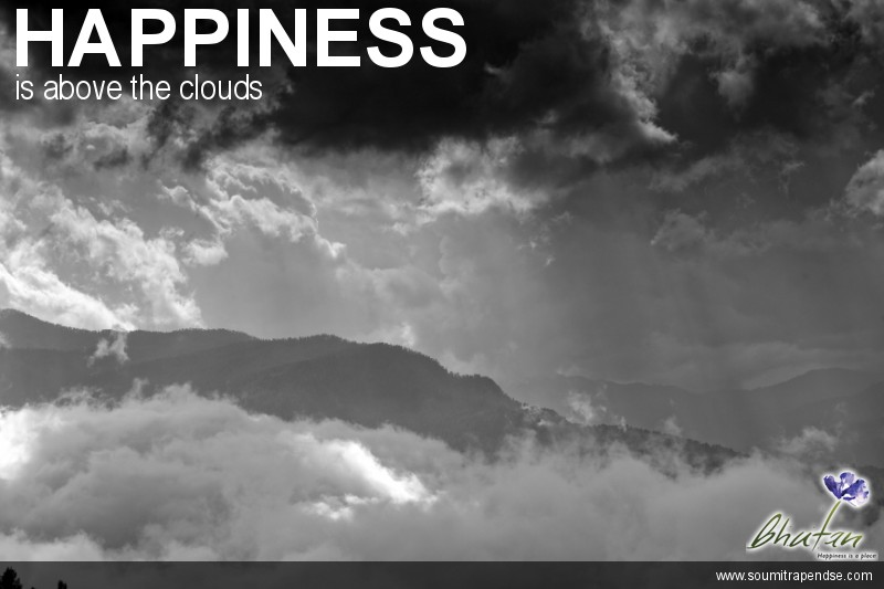 Happiness is above the clouds