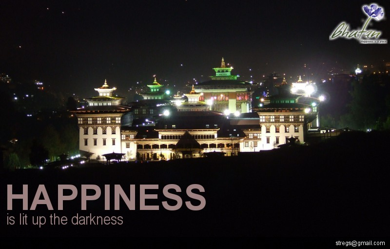 Happiness is lit up the darkness