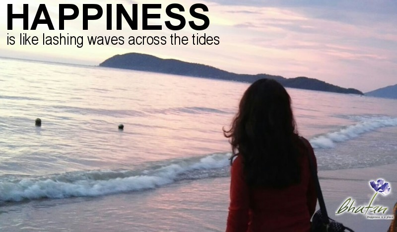 Happiness is like lashing waves across the tides