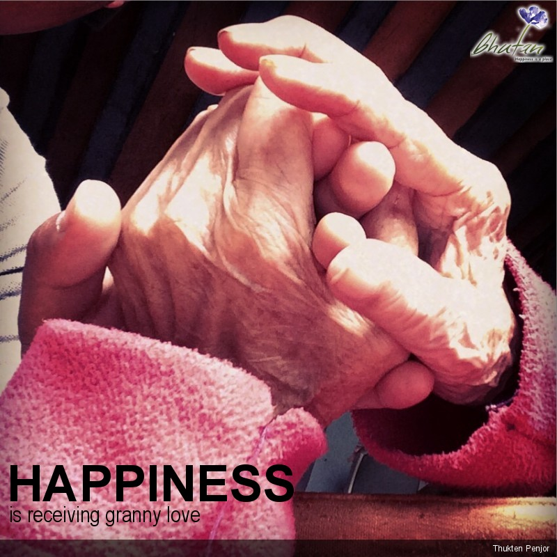 Happiness is receiving granny love