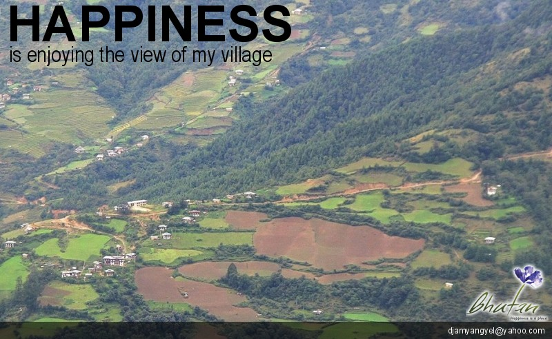 Happiness is enjoying the view of my village