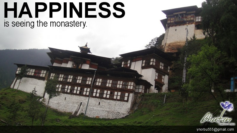 Happiness is seeing the monastery.