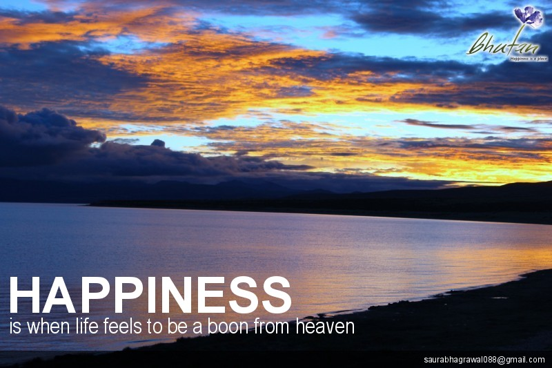 Happiness is when life feels to be a boon from heaven