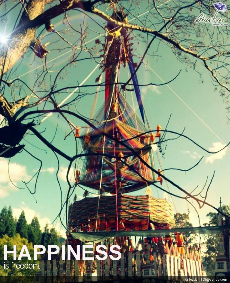 Happiness is freedom.