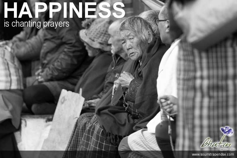 Happiness is chanting prayers