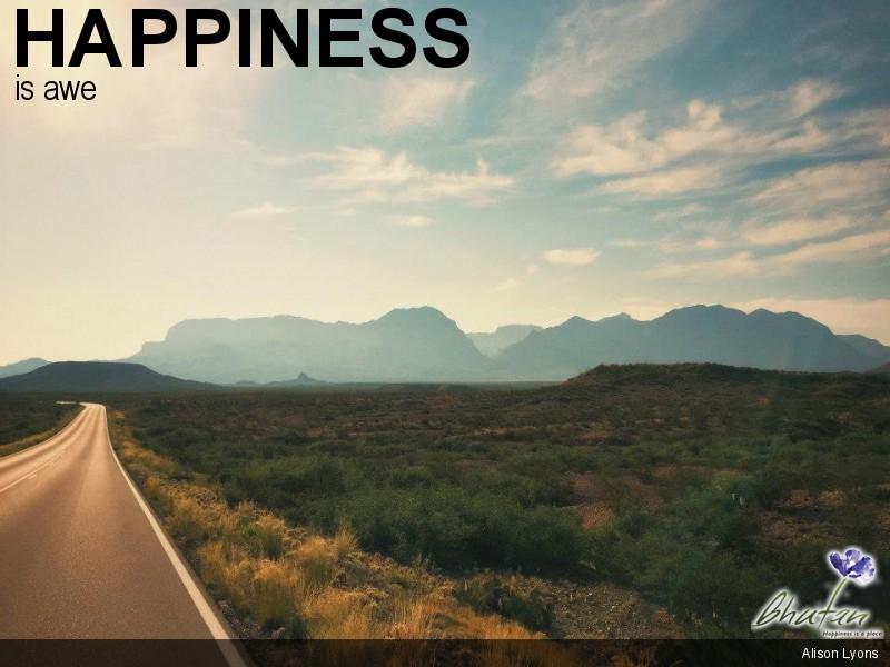 Happiness is awe