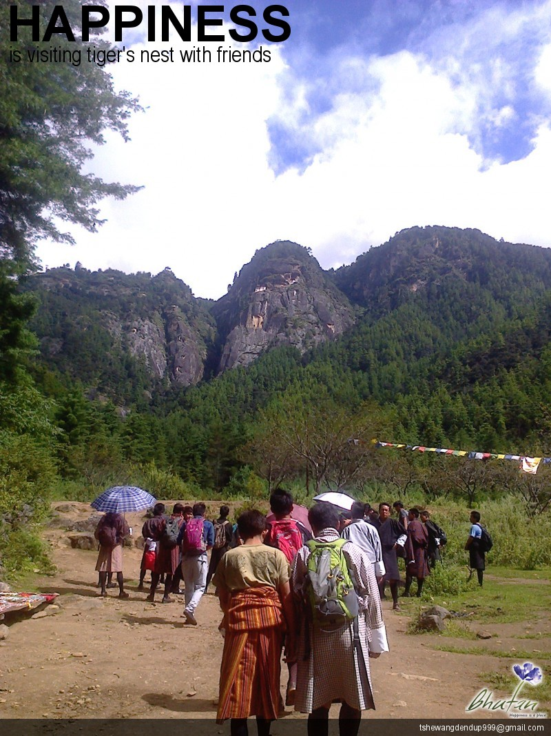 Happiness is visiting tiger's nest with friends