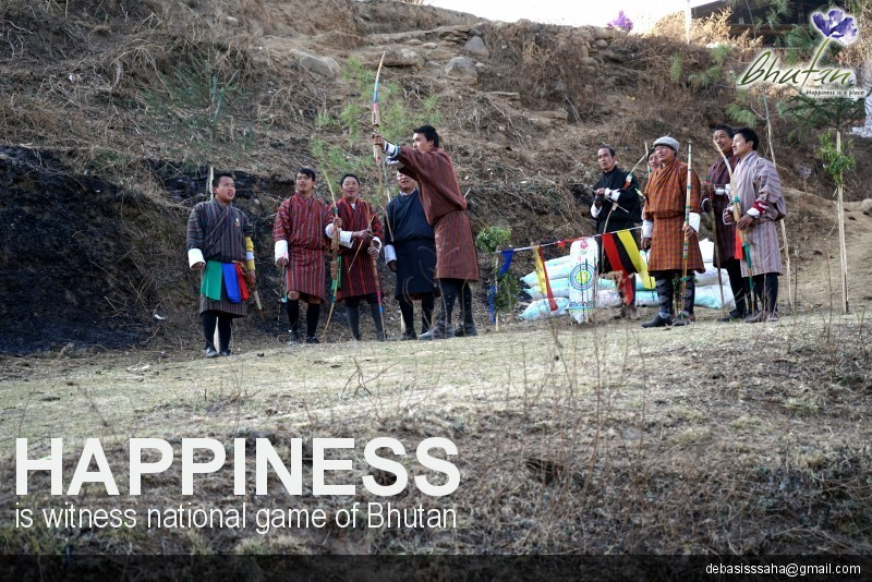 Happiness is witness national game of Bhutan