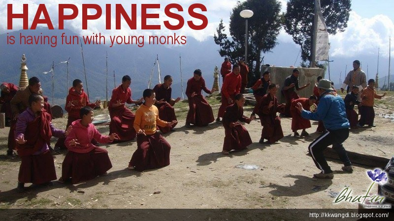 Happiness is having fun with young monks