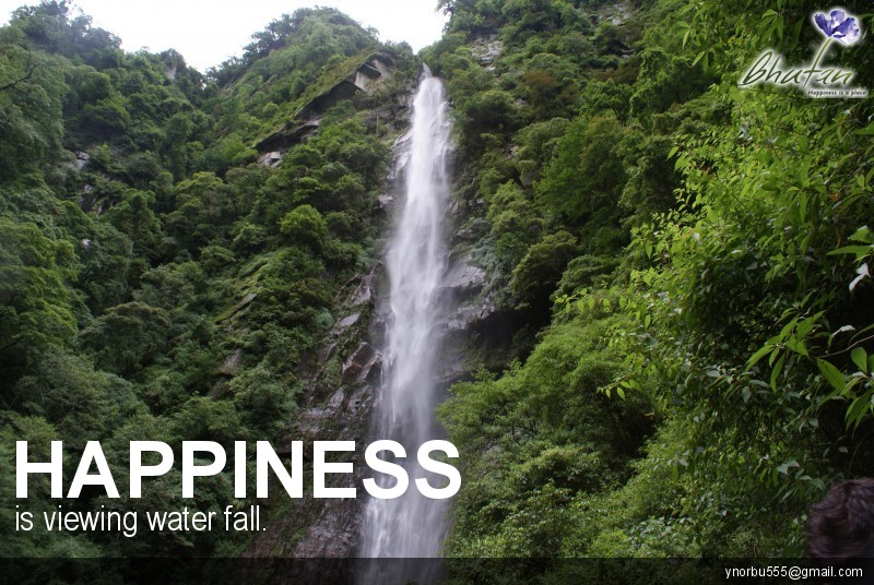 Happiness is viewing water fall.