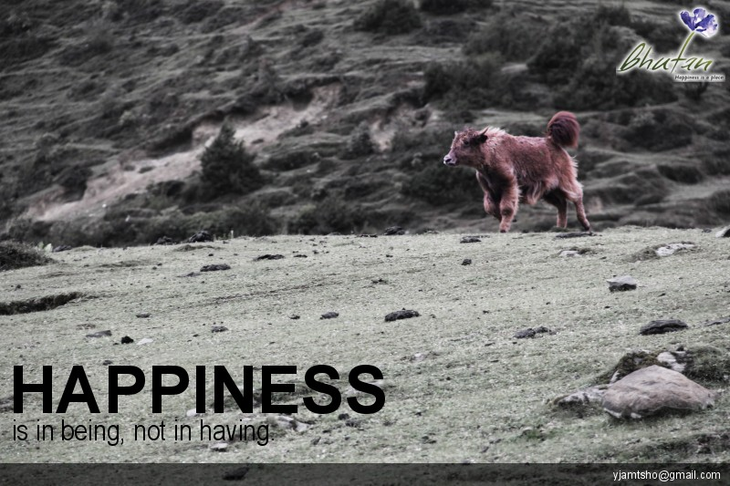 Happiness is in being, not in having.