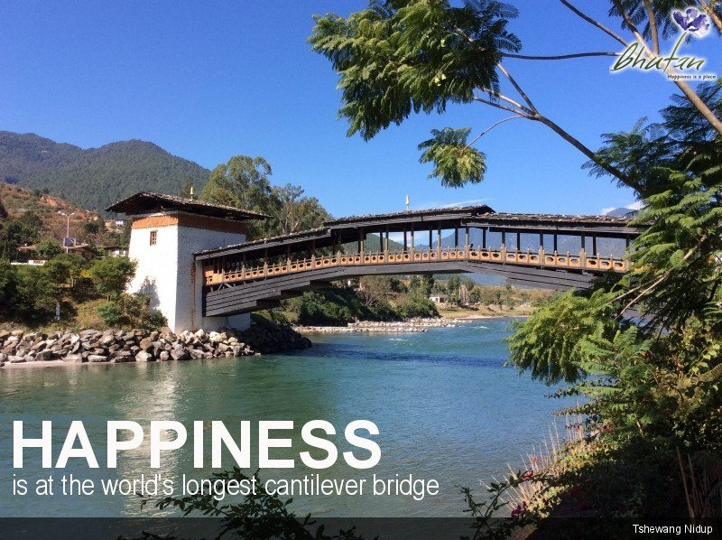 Happiness is at the world's longest cantilever bridge