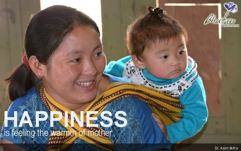 Happiness is feeling the warmth of mother