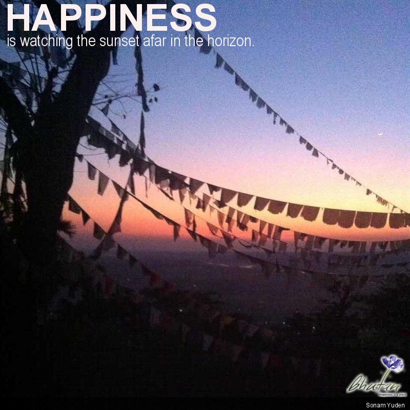Happiness is watching the sunset afar in the horizon.