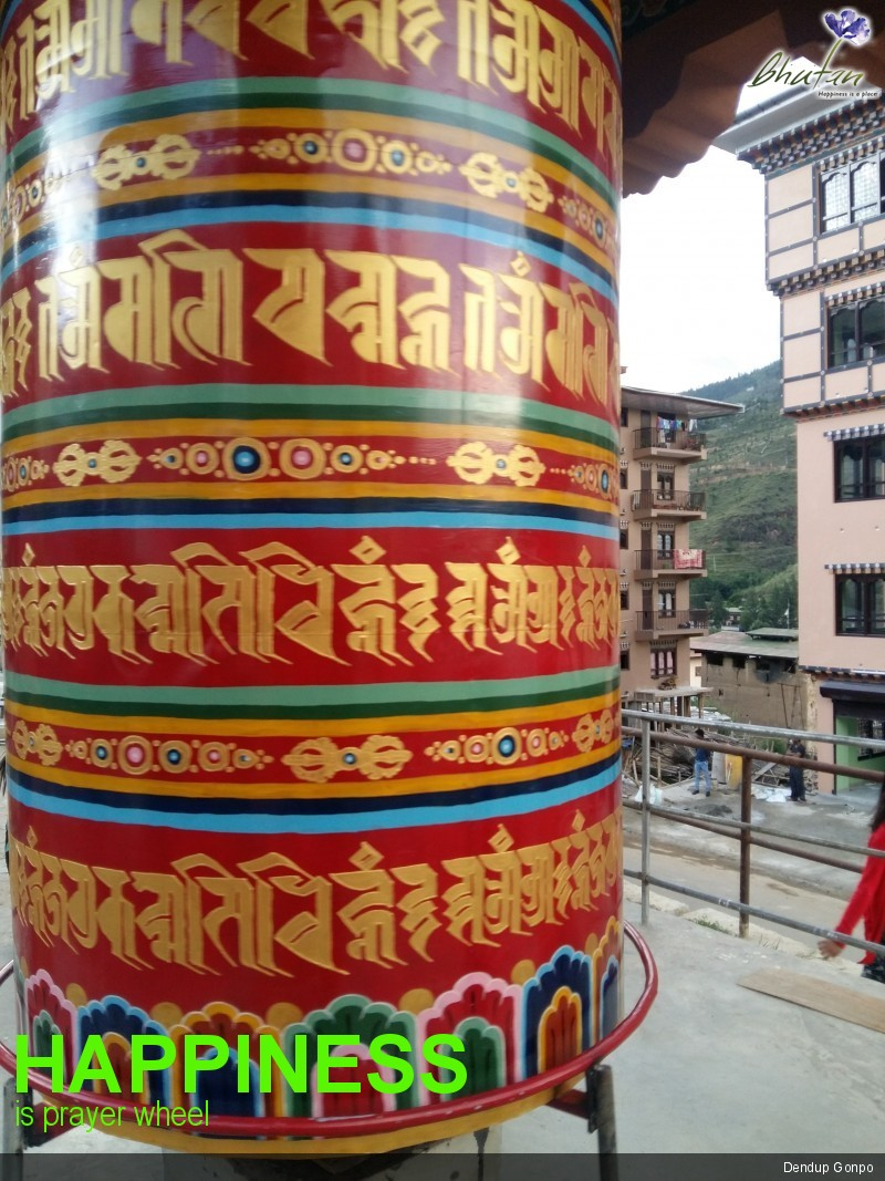 Happiness is prayer wheel