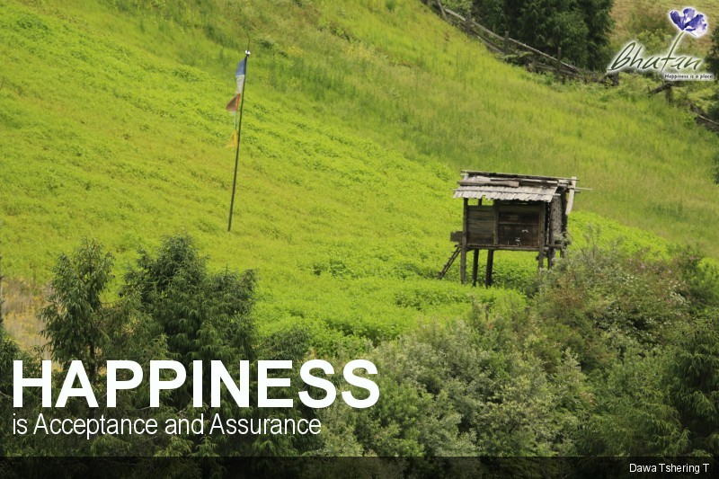 Happiness is Acceptance and Assurance