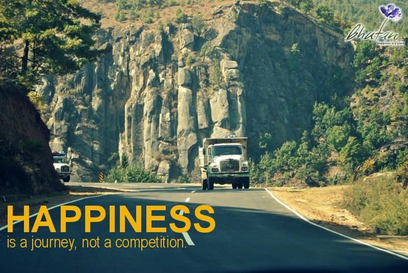 Happiness is a journey, not a competition.