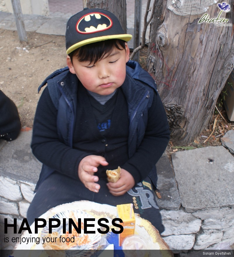 Happiness is enjoying your food