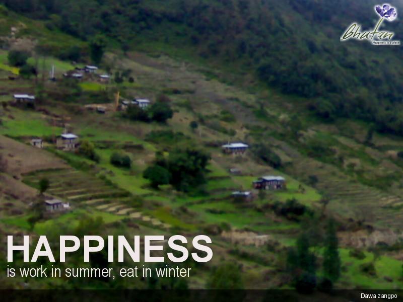 Happiness is work in summer, eat in winter