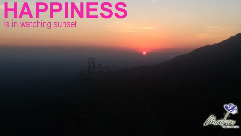 Happiness is in watching sunset..